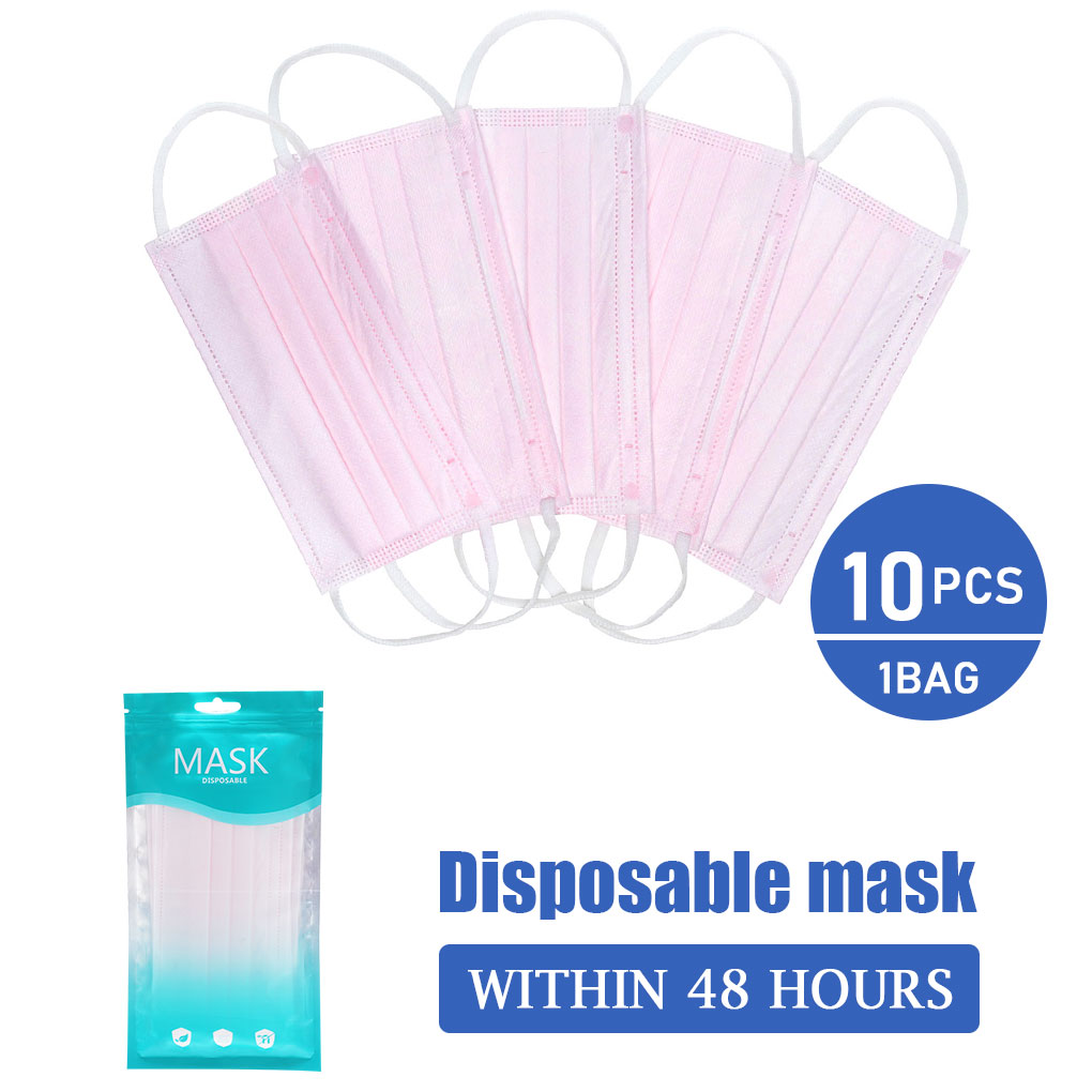 10/20/50/100Pcs Mouth Masks Disposable Black Cotton Mouth Face Mask  Earloop Activated