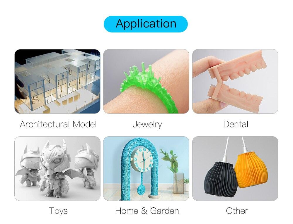 resine UV anycubic application