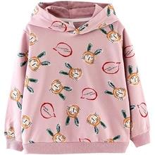 Hoodies Sweatshirts Girl Clothes Teenage Toddler Rabbit Kids Fashion Cartoon Cotton Fall