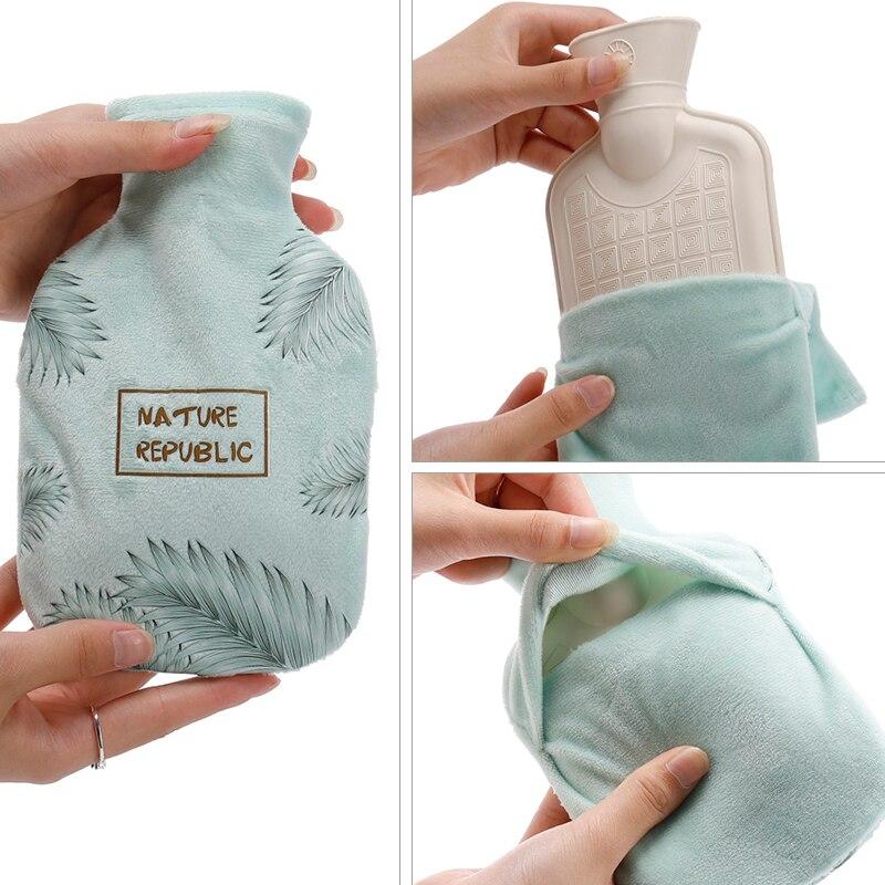 350ml baskılı sıcak su şişesi sızdırmaz el ısıtıcı stres ağrı kesici terapi kış sıcak ısı kızlar el ayaklar sıcak su çanta