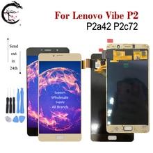 """5.5 """"LCD z ramką dla Lenovo P2 P2a42 P2c72 wyświetlacz LCD ekran dotykowy Digitizer zgromadzenie dla Lenovo Vibe P2 wyświetlacz nowy"""