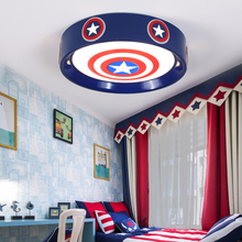 Cartoon Captain America Children Room Ceiling Light For Kids Baby Boys Bedroom Girls Nursery Lighting