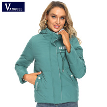 Vangull Winter Jacket Women Parkas 2020 New Hooded Thick Down Cotton Padded Parka Female Jacket Short Coat Slim Warm Outwear