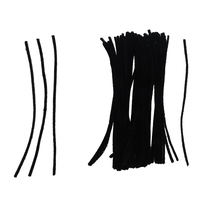 200 Pcs 30cm Black/White Pipe Cleaners|Squeeze Toys| |  -
