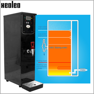 Image 3 - Xeoleo 20L موزع المياه الساخنة التجارية آلة الماء الساخن 60L/H وعاء من الستانليس ستيل الأسود غلاية مياه لمتجر شاي فقاعات 3000 واط