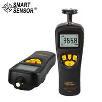 Digital Tachometer Rotational Speed Meter Contact Motor RPM Meter AR925 Tach Tools Non Contact photoelectric speedometer AR926