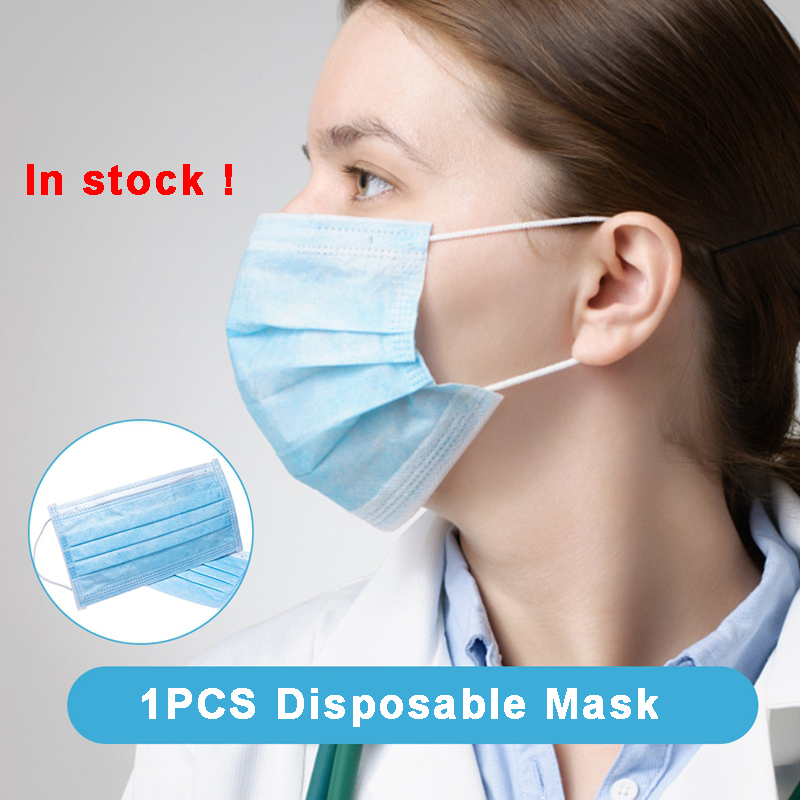 1PCS Non Woven Disposable Face Mask 3 Layers Personal Health dental Earloops Anti-Dust Face Surgical Masks In stock