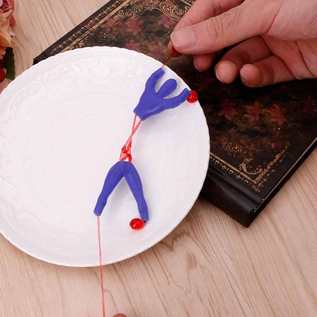 1 sztuk produkty-nowości zabawki slime lepki wspinaczka Spider-Man one piece figurka śmieszne gadżety pcv Spiderman dla dzieci zabawki