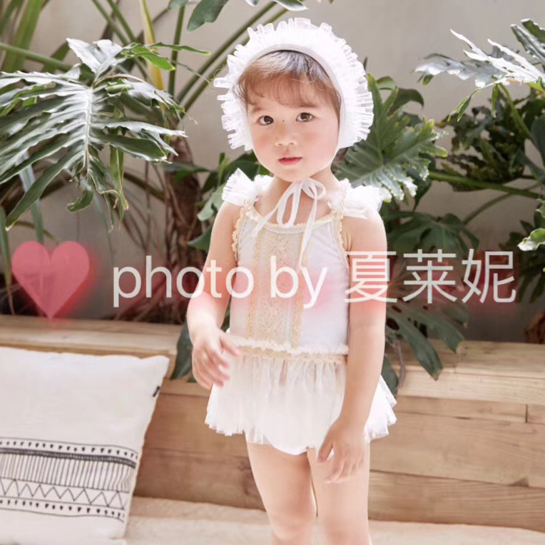 Ying Le KID'S Swimwear Women's Small CHILDREN'S 2-7-Year-Old Women's Young Children Split Type Two-Piece Set Tour Bathing Suit W