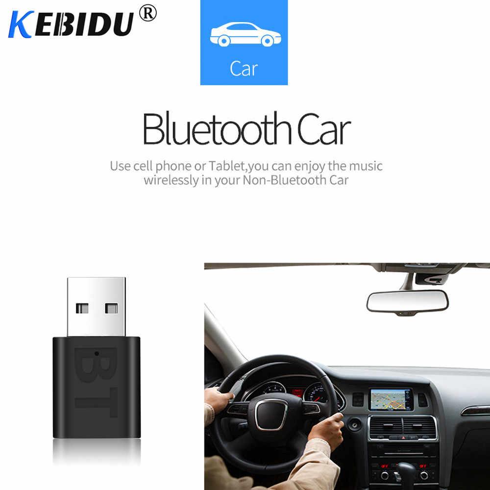 Kebidu سيارة بلوتوث 5.0 محول الصوت استقبال لاسلكية الموسيقى 3.5 مللي متر AUX جاك الصوت مستقبلات USB البسيطة ل راديو تلقائي ستيريو