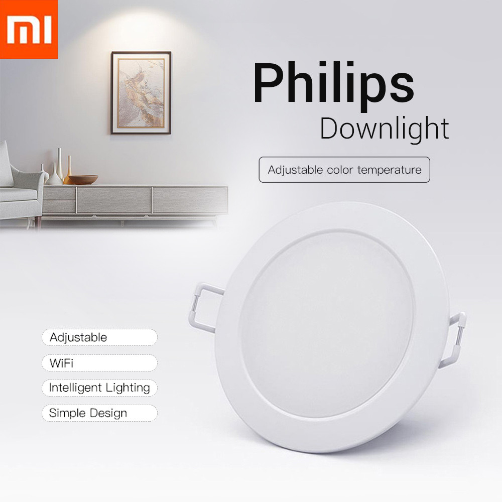 Original Xiaomi Smart Downlight Philips Zhirui Light 220V 3000 - 5700k Adjustable Color Ceiling Lamp App Smart Remote Control