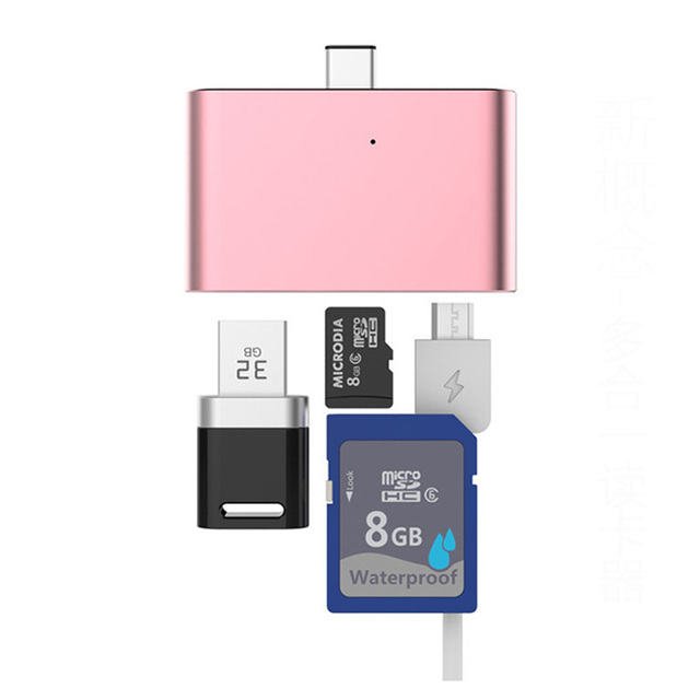 Type c Hub Multifunction Card Reader Otg  Phone Card Reading 4 In 1 SD/TF Memory Card U Disk USB3.1 Type C To USB2.0 Readers