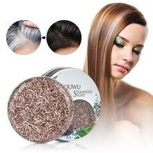 New Polygonum Essence Hair Darkening Shampoo Bar Soap Natural Organic Mild Formula Hair Shampoo Gray Hair Reverse Hair Cleansing