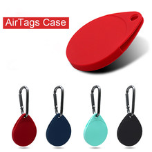 Liquid Silicone Protective Cover Locator Tracker Shockproof Case Anti-Lost Device Keychain Sleeve For Apple AirTags Accessories
