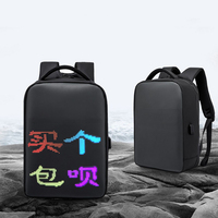 Laptop LED Backpack Smart LED Screen Display Back Bag Business Casual Outdoor Travel Waterproof Back Pack Laptop Accessory 15.6