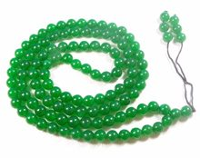 Collier tibétain bouddhiste 108 perles de Jade vert collier de prière Mala 6mm(China)