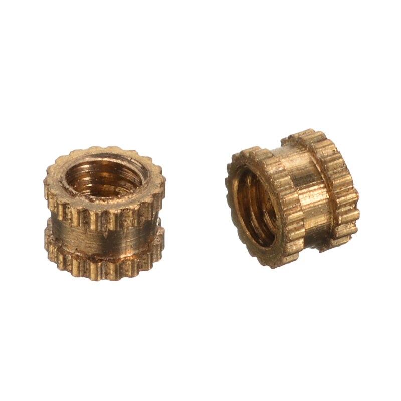 Non-Calibrated Brass Hand Screw Knurling Flat Head M3 4 5 6*58 10 12 16