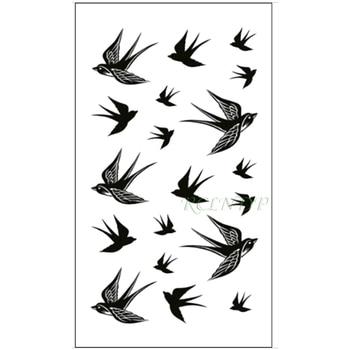 Waterproof Temporary Tattoo Sticker Swallow fly bird Flash Tatoo Fake Tatto arm leg Wrist Foot hand For Girl Men Women kids