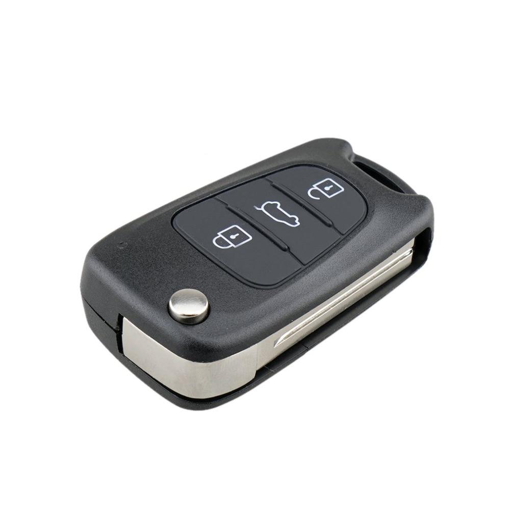 1* Uncut Remote Folding Key Shell Case 3Buttons Fob For Hyundai I20//I30//IX35//I35