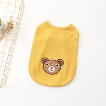 Pets Clothes Spring and Summer New Cotton Stretch Doggie Vest Clothing Method Dou Teddy Puppy Casual Clothes Complete Sizes цена 2017