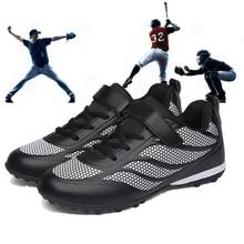 Дышащая бейсбольная обувь для мальчиков и девочек; мужские и женские кроссовки с шипами; нескользящая спортивная обувь для улицы; спортивная обувь для бейсбола; Размеры 30-42