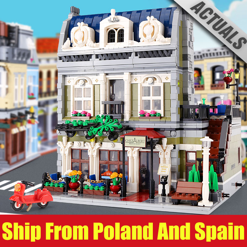 Dhl 15010 전문가 도시 거리 새로운 10243 파리 레스토랑 세트 빌딩 블록과 호환 재미 있은 아이 장난감 크리스마스 선물-에서블록부터 완구 & 취미 의  그룹 1