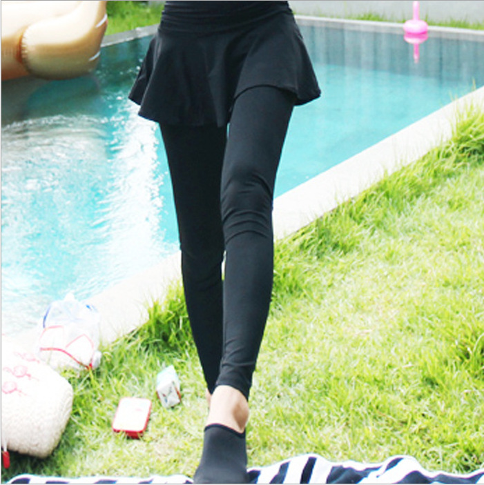 Diving Suit WOMEN'S Pants Skirt Jellyfish Service Sun-resistant Snorkeling Quick-Dry Slimming Mock Two-Piece Yoga Swimming Suit
