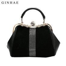 Bolsa de piel sintética negra clásica para mujer, Diseño de diamantes de mano de piel sintética de alta calidad, bolsos de hombro tipo bandolera de gran capacidad