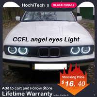 HochiTech blanco 4 Uds 120mm faro delantero CCFL Halo Ángel ojos de demonio de Ojos de ángel de luz para BMW E30 E32 E34 1984-1990
