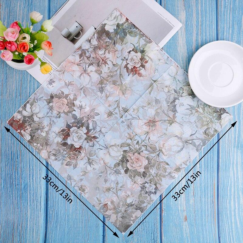 Купить с кэшбэком 20PCS Paper flower Napkins for Decoupage Kleenex Tableware Tissues DIY Craft Decoration