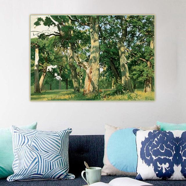 Фото цитон иван шишкин oaks дубы вечерний canvas холст искусство цена