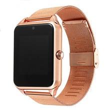 חכם שעון עמיד למים Smartwatch שעון גברים נשים אופנה whatsapp לב פלדת חגורת Bluetooth לובש ספורט מטר כרטיס