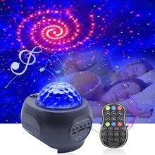 Natal laser estrelado disco luz de palco usb bluetooth e tf cartão música lâmpada do projetor para telefones com controle remoto