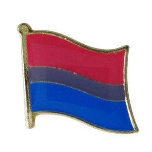 Image 5 - ゲイプライドレインボースターバイセクシャルトランスジェンダー旗ラペルピンバッジエナメルバッジブローチジーンズシャツクールギフト (900 ピース/ロット)