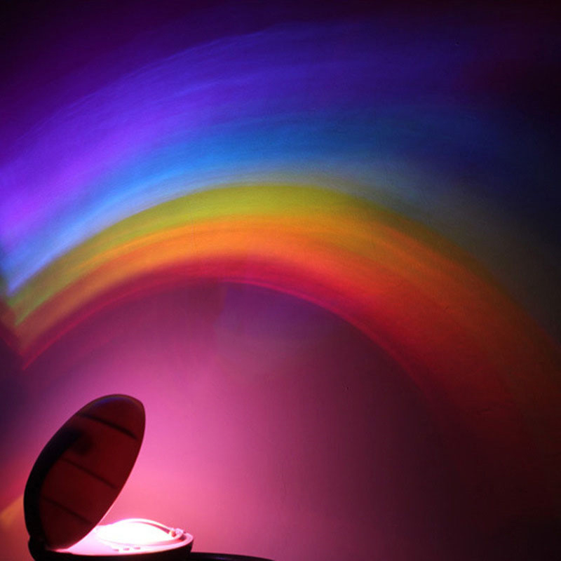 3 Modes LED Colorful Rainbow Night Light Romantic Magic Rainbow Projection Lamp For Children Bedroom Home Decor