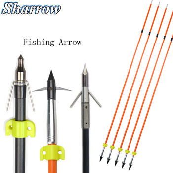 Compound bow Hunting Fiberglass Fishing Arrow Shooting Arrow Slingshot Hunting Archery Arrow for Recurve Bow Slingshot Hunting 1 piece diameter 60cm arcehry straw grass target shooting practice recurve traditional compound bow slingshot training
