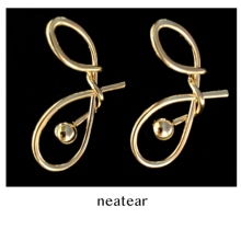 Neatear 2019 New fashion Korean version of the versatile simple knotted metal high-grade ladies earrings