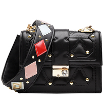 купить new bags for women 2019 pu Leather luxury handbags women bags designer High Quality Shoulder bag Rivet Colorful Messenger bag по цене 1213.39 рублей
