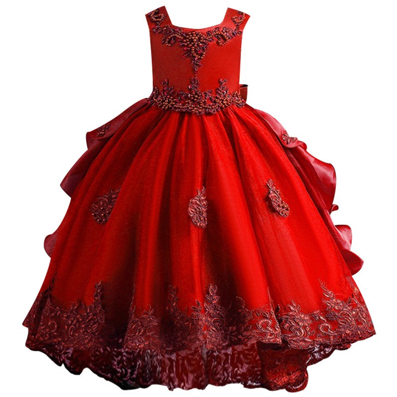 New High Quality Baby Girl Dress For Girls Elegant Birthday Party Dress Girl Dress Baby Girl's Christmas Clothes 2-8yrs