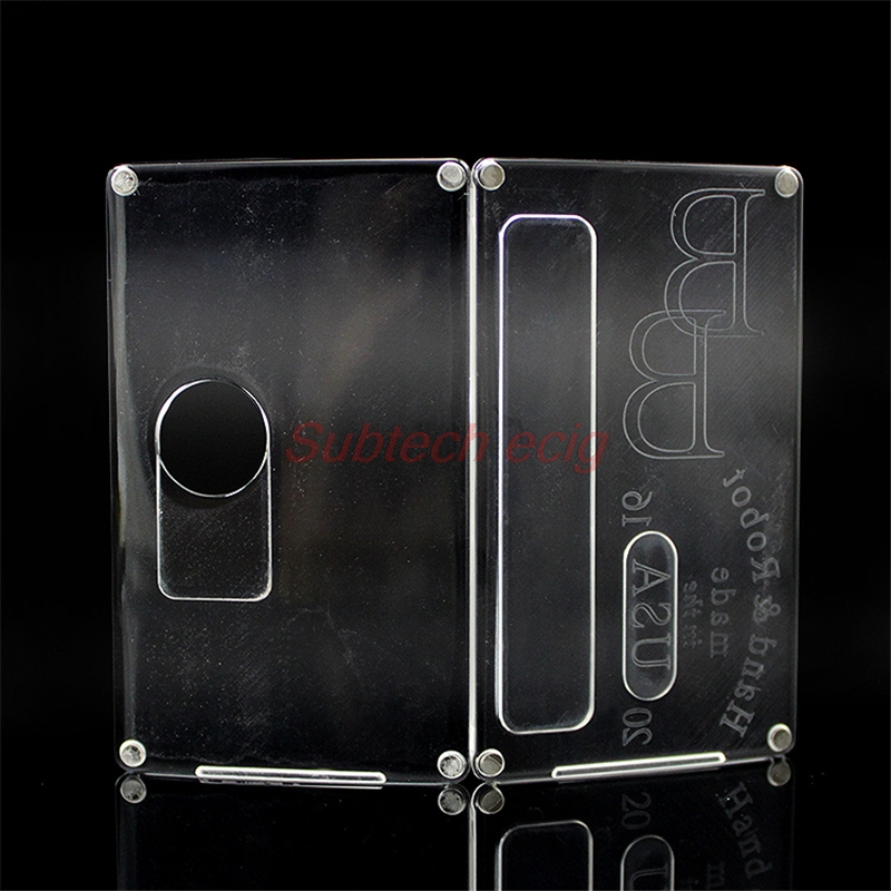 Livraison gratuite haut Vape usine SXK nouveauté clair acrylique panneaux/portes givré pour b boîte mod billette boîte V4 Bantam boîte mod