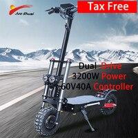Patinete eléctrico plegable con ruedas duales, patineta para adultos, resistente al agua, 3200W, 60V