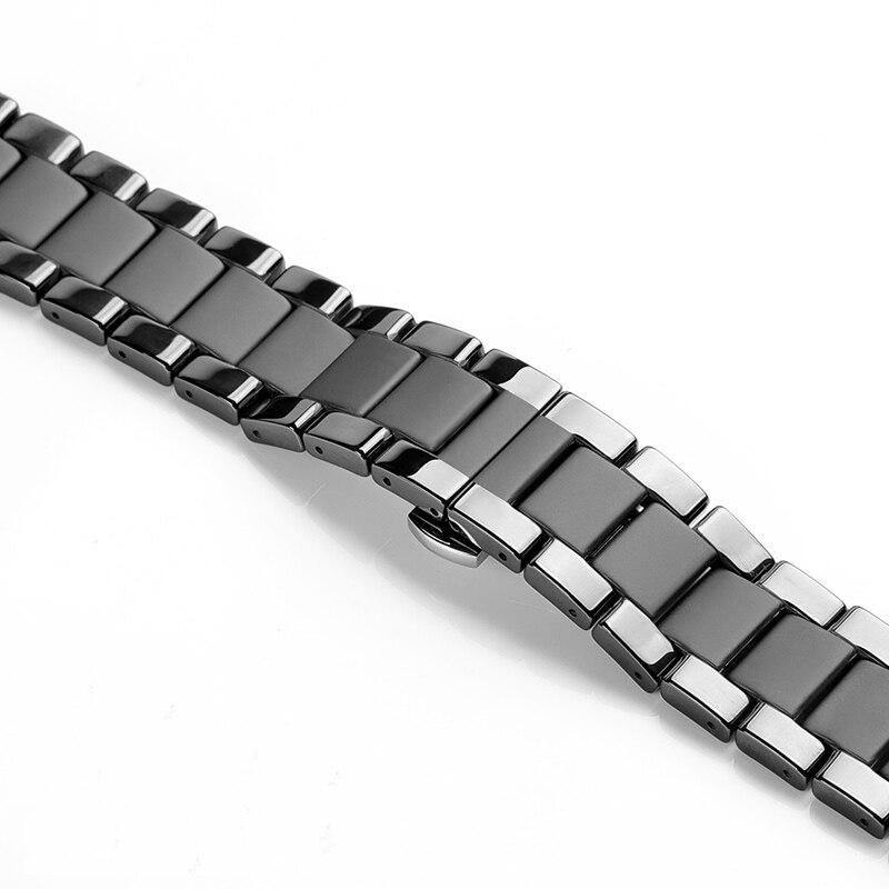 Image 4 - 20 22 мм керамический ремешок для часов huawei watch GT 2 2E /HONOR Magic WATCH 2 сменный ремешок для Samsung Galaxy 46 мм 42 ммРемешки для часов   -
