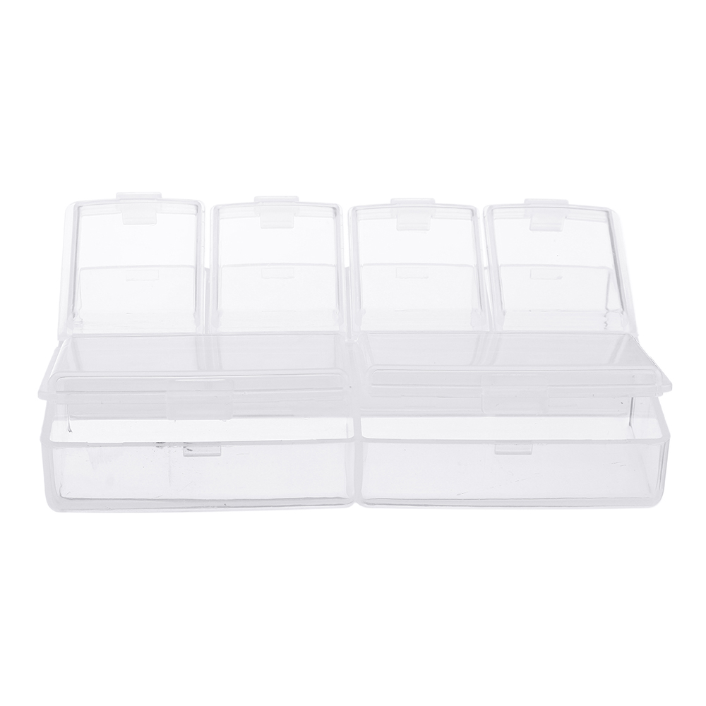 6 Grid Electronic Components Project Storage Assortment Box Bead Organizer Jewelry Box Plastic Storage Case
