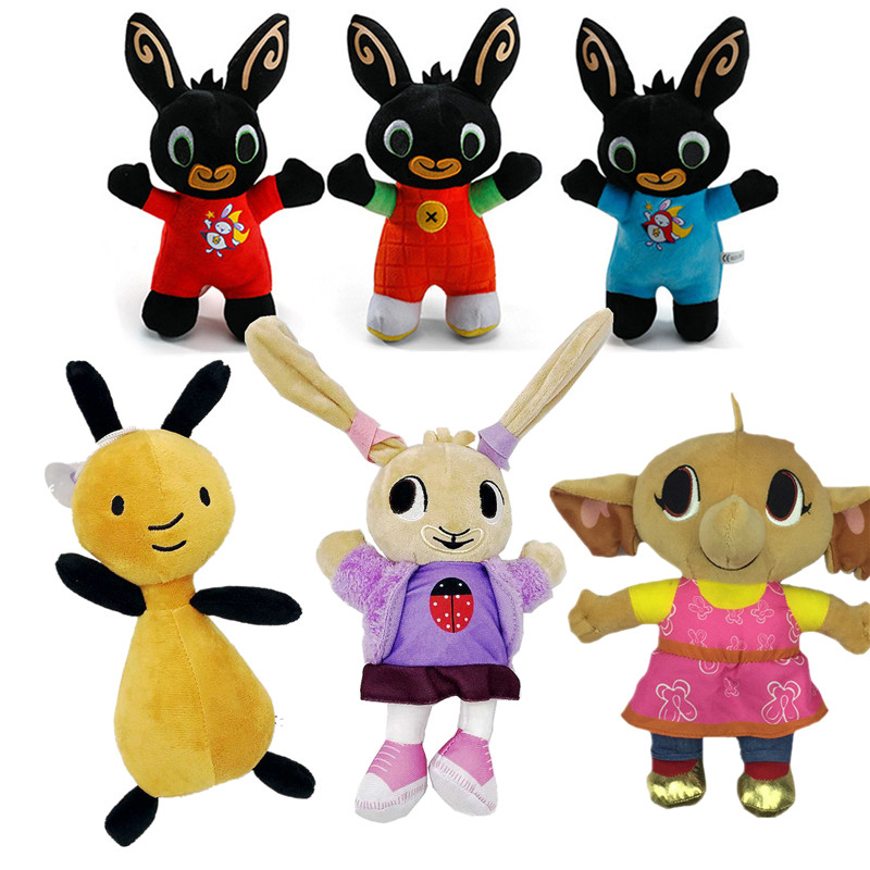 Animal Friends Bing Bunny Toy, Red Bunny Rabbit Bear Panda Fox Elephant Tinger Monkey Stuffed Animals Plush Toy For Girls