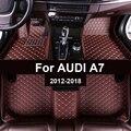 Автомобильные коврики в салон для AUDI A7 2012 2013 2014 2015 2016 2017 2018 Пользовательские Авто накладки на ножках не оставят автомобильный коврик крышка