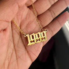Necklace Gold 1991 1999-Collar English-Number Birthday-Gift 1993 1996 1995 1994 1997