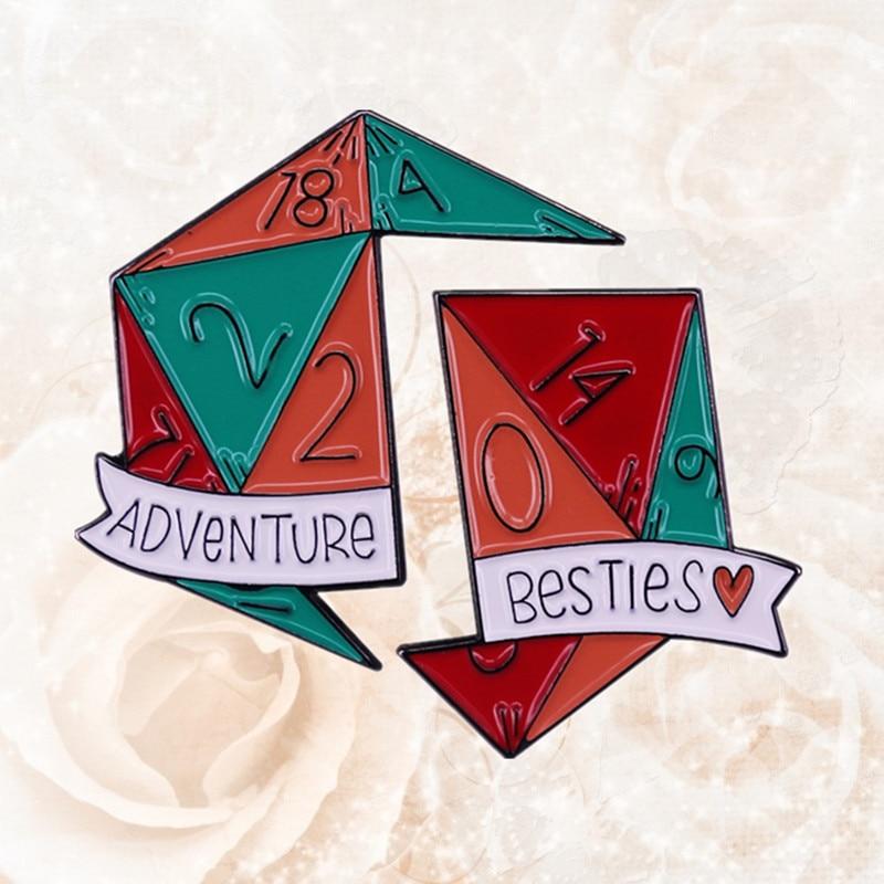 D & DnD RPG D20 подземелья дружбы эмали штырь Настольный игровой превосходно подходит для столешницы ies умников Подарочная брошка