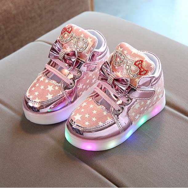 Children Shoes fashion KT LED Light