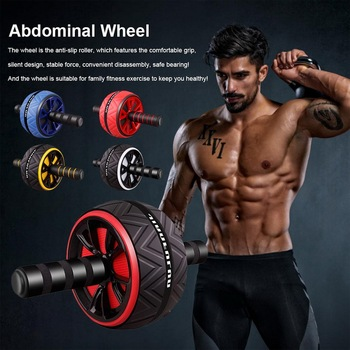 Single Wheel Abdominal Power Wheel  Roller Gym Roller Trainer Training Gym Home Fitness Tools Muscle Exercise Equipment 2020 1