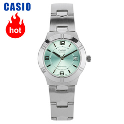 Casio watch female simple steel belt light green small plate quartz ladies watch LTP-1241D-3A